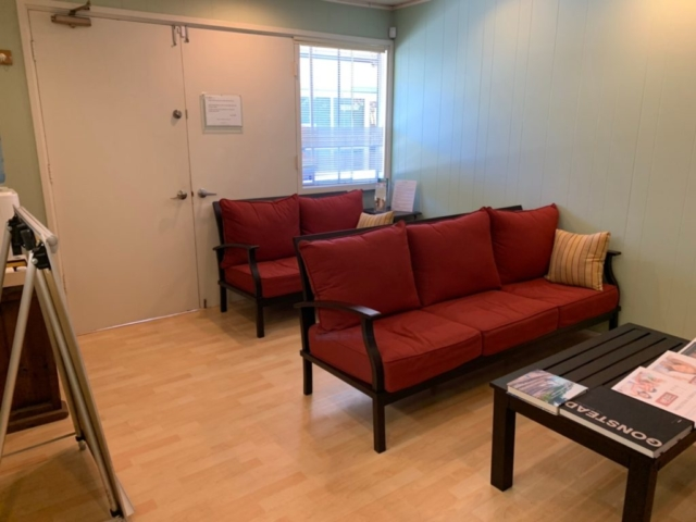 Waiting area, floor renovation completed in ICON Chiropractic Campbell Office